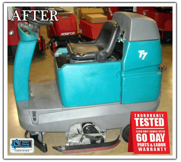 refurbished tennant t7 floor scrubber with 60-day warranty
