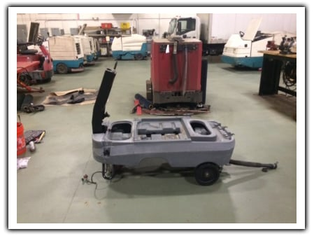 new motor added to refurbished tennant t7 floor scrubber